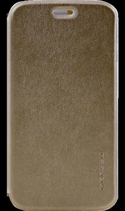 Gresso Чехол-книжка Gresso Absolut Air для Moto C+, кожзам, золотистый gresso чехол книжка gresso absolut air для zte axon 7 mini кожзам золотистый