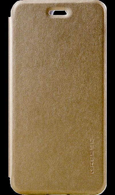 Gresso Чехол-книжка Gresso Absolut Air для Lenovo Vibe S1, кожзам, золотистый gresso чехол книжка gresso глория универсальный 7 8 кожзам белый