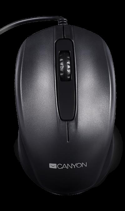 Мышь Canyon CNE-CMS01B BlackМыши<br>Минималистический дизайн и функциональность<br>Идеально подходит как для правой, так и для левой руки<br>Проводной тип подключения<br>Разрешение 1000 DPI<br>Клавиши рассчитаны на 3 млн кликов<br><br><br>Если вы хотите оборудовать своё рабочее место простыми и надежными гаджетами для ПК, эта оптическая проводная мышь - оптимальный выбор. Благодаря гладкой и нескользящей поверхности, ее кнопки очень приятны на ощупь. Разрешение 1000 DPI оптимизировано для ноутбуков и больших мониторов. ...<br><br>Colour: Черный