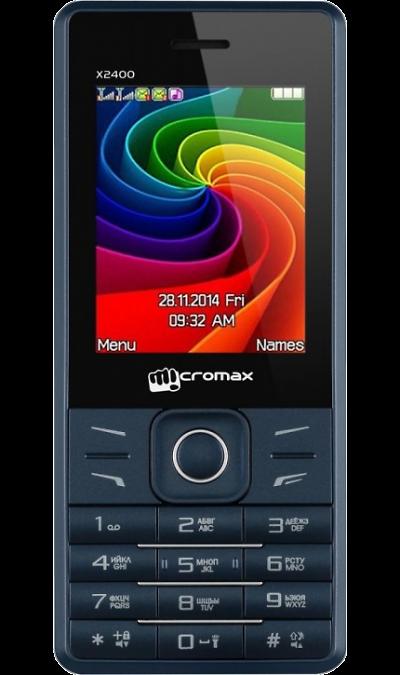 Micromax X2400Телефоны<br>2G; Дисплей емкостный 65,5 тыс цв. 2.4; Камера 0.3 Mpix; Разъем для карт памяти; MP3, FM; Время работы 500 ч. / 8.0 ч.; Вес 121 г.<br><br>Colour: Синий