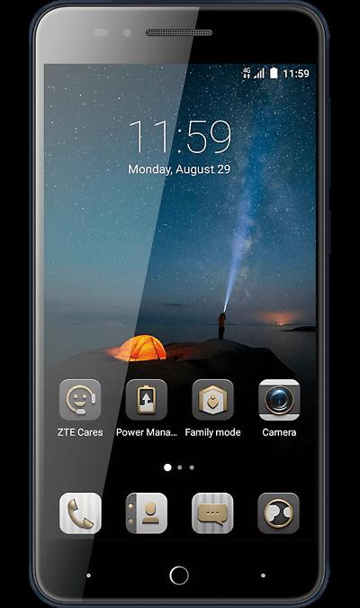 ZTE Blade A610cСмартфоны<br>2G, 3G, 4G, Wi-Fi; ОС Android; Дисплей сенсорный емкостный 16,7 млн цв. 5; Камера 8 Mpix, AF; Разъем для карт памяти; MP3, FM,  GPS; Вес 144 г.<br><br>Colour: Синий