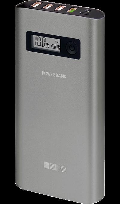 Аккумулятор Inter-Step, Li-Ion, 15000 мАч, серый (портативный)Аккумуляторы внешние<br>Резервный аккумулятор Inter-Step - устройство, предназначенное для зарядки портативных устройств без помощи электрической сети. Особенно актуален для путешественников и туристов в местах, где невозможен или ограничен доступ к электроэнергии. Резервный аккумулятор подходит для портативных устройств, таких как смартфоны, планшеты, мобильные телефоны и МР3-плееры.<br><br>Функция быстрой зарядки Quick Charge позволит существенно сократить время заряда вашего устройства. Данная технология безопасна для ...<br><br>Colour: Серый