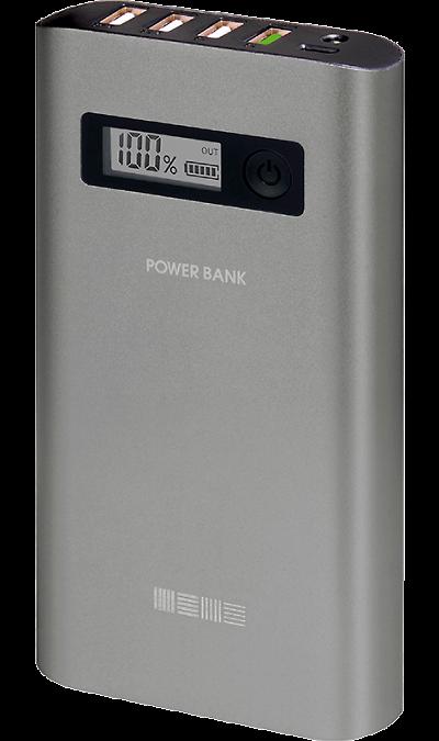 Аккумулятор Inter-Step, Li-Ion, 24000 мАч, серый (портативный)Аккумуляторы внешние<br>Резервный аккумулятор Inter-Step - устройство, предназначенное для зарядки портативных устройств без помощи электрической сети. Особенно актуален для путешественников и туристов в местах, где невозможен или ограничен доступ к электроэнергии. Резервный аккумулятор подходит для портативных устройств, таких как смартфоны, планшеты, мобильные телефоны и МР3-плееры.<br><br><br>Функция быстрой зарядки Quick Charge позволит существенно сократить время заряда вашего устройства. Данная технология безопасна для ...<br><br>Colour: Серый