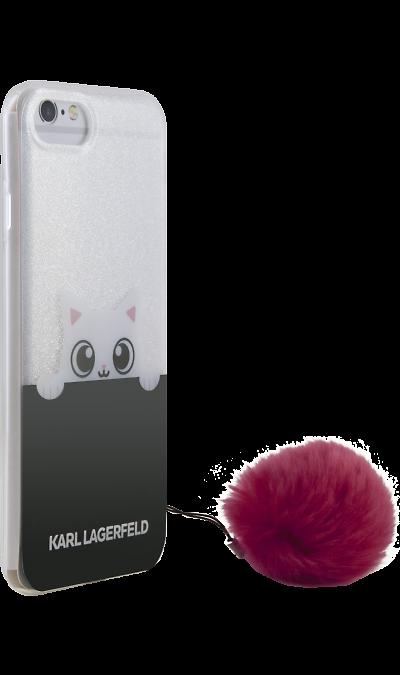 Karl Lagerfeld Чехол-крышка Karl Lagerfeld для Apple iPhone 7/8, силикон, прозрачный (Soft Case)