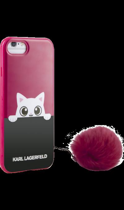 Karl Lagerfeld Чехол-крышка Karl Lagerfeld для Apple iPhone 7/8, силикон, красный (Soft Case)