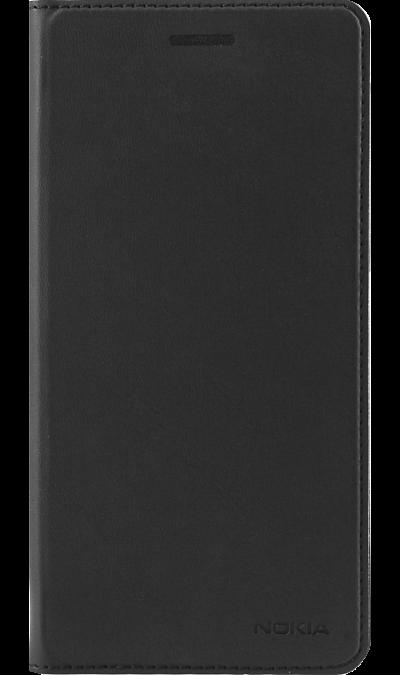 Nokia Чехол-книжка Nokia для Nokia 6, кожзам, черный