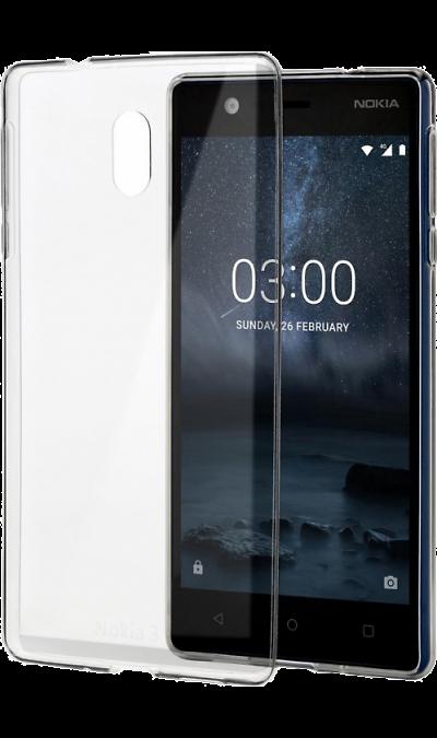 Nokia Чехол-крышка Nokia для Nokia 3, силикон, прозрачный стоимость