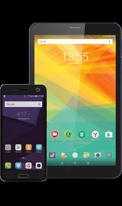 ZTE Школьный комплект: смартфон ZTE Blade V8 64GB Black + планшет Prestigio PMT3618