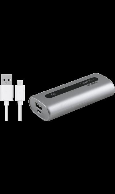 Аккумулятор  PBK304, Li-Pol, 5000 мАч, серебристый (портативный)Резервный аккумулятор  - устройство, предназначенное для зарядки портативных устройств без помощи электрической сети. Особенно актуален для путешественников и туристов в местах, где невозможен или ограничен доступ к электроэнергии. Резервный аккумулятор подходит для портативных устройств, таких как смартфоны, планшеты, мобильные телефоны и МР3-плееры.<br><br>Colour: Серебристый